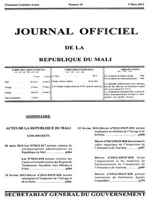 lois journal officiel
